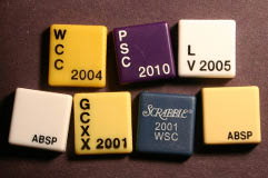 Custom SCRABBLE tile blanks with writing