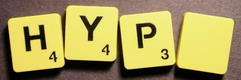 SCRABBLE tile style M20B : Taxicab yellow tile with black letter